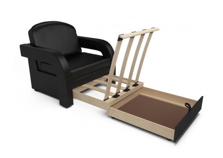 Кресло Craftmebel Кармен-2 (черный кожзам) - фото 4