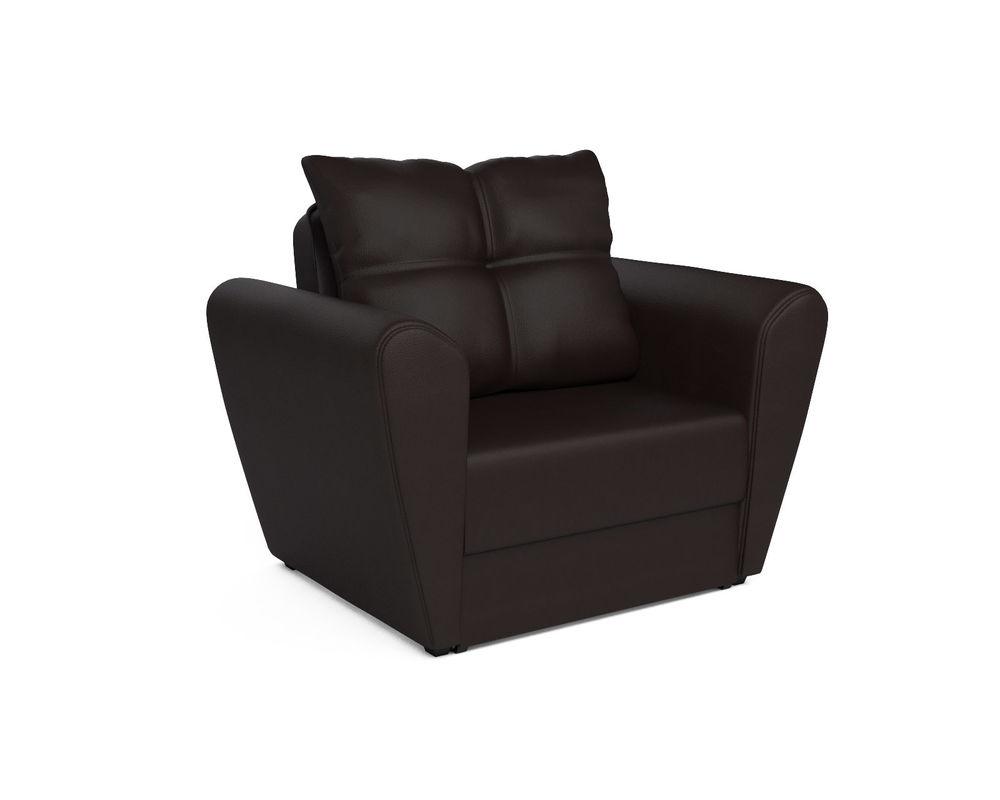 Кресло Мебель-АРС Квартет - экокожа шоколад - фото 1