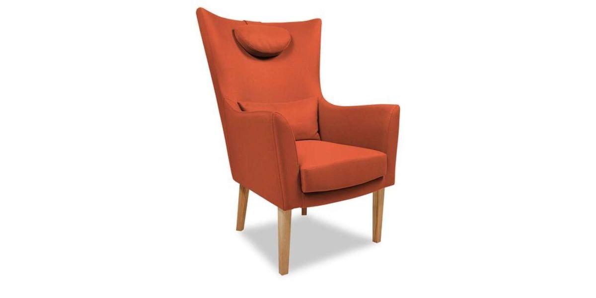 Кресло WOWIN Элеганза высокое (Терракотовый велюр) - фото 1