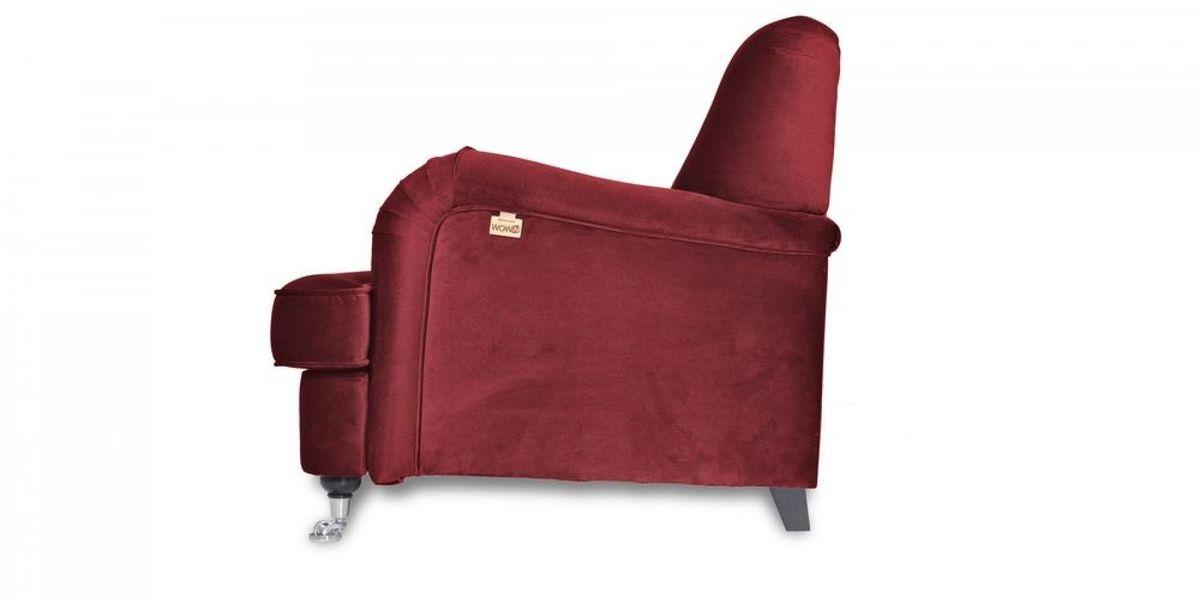 Кресло WOWIN Фулхаус (Бордовый велюр) - фото 4