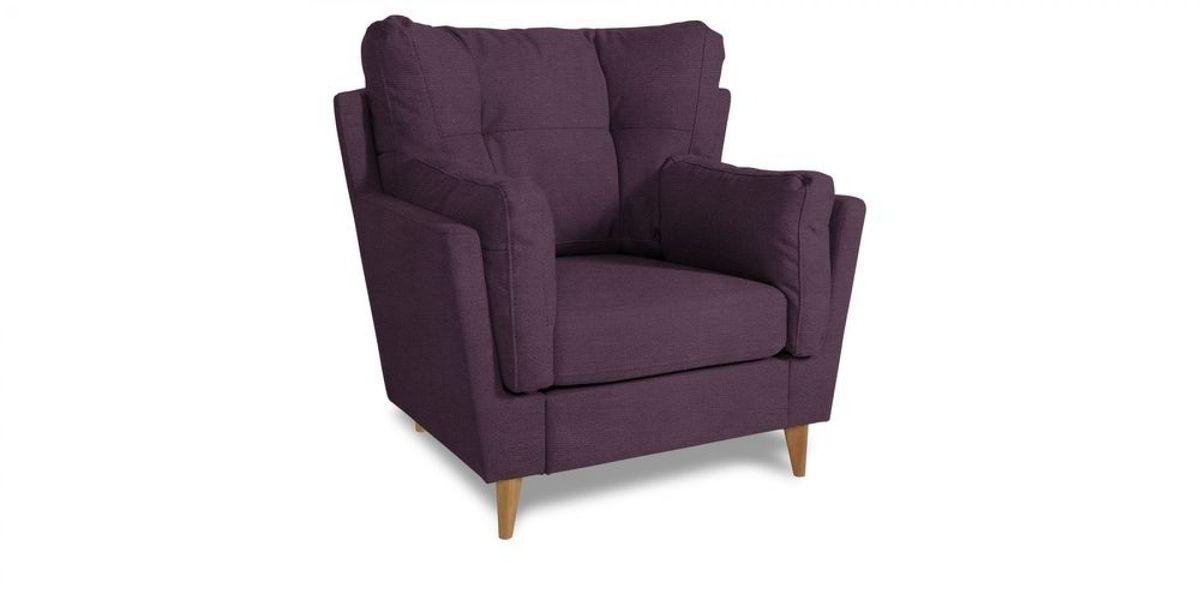 Кресло WOWIN Хюгге (Темно-фиолетовый велюр) - фото 1