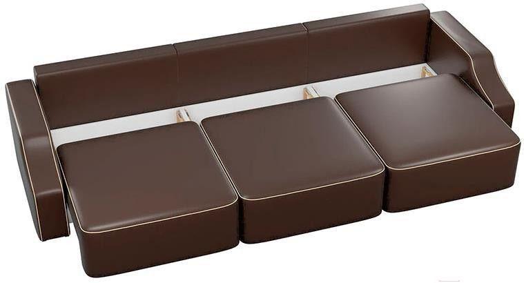 Диван Mebelico Триумф Long Slide 59 экокожа коричневый [59397] - фото 3