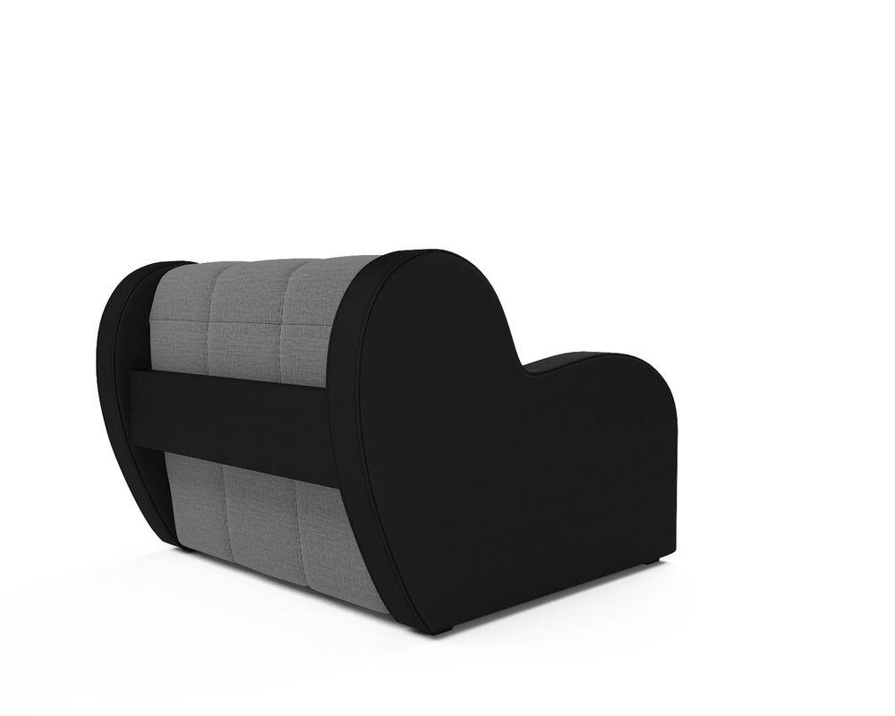 Кресло Мебель-АРС Аккордеон Барон серый (рогожка + экокожа) - фото 4
