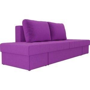 Диван ЛигаДиванов Сплит микровельвет фиолетовый - фото 4