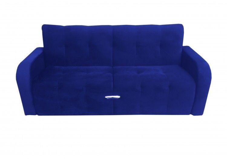Диван Луховицкая мебельная фабрика Марсель (велюр синий) 140x190 - фото 1