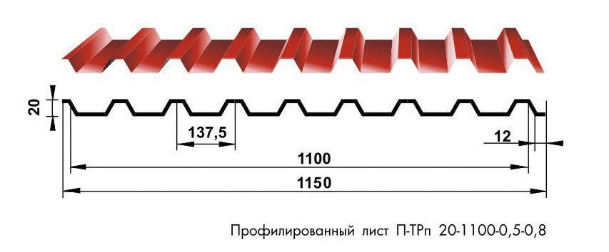 Профнастил Вертрагия П-ТРп-20 - фото 1