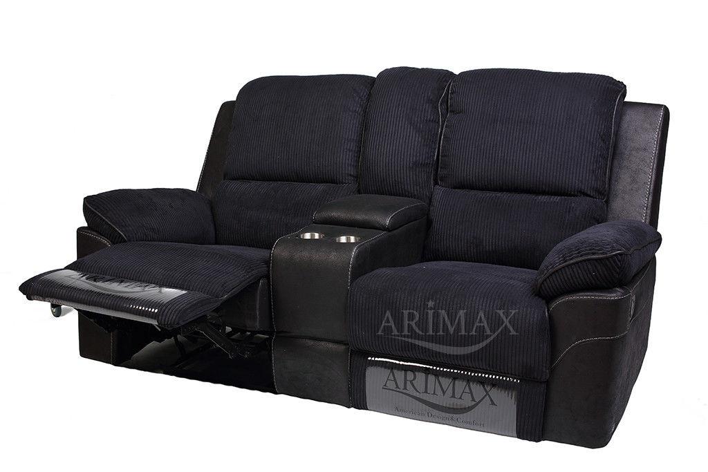 Диван Arimax Брукс (Ежевика) с консолью и реклайнерами - фото 3
