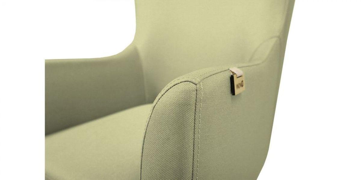 Кресло WOWIN Элеганза высокое (Серо-бежевая микророгожка) - фото 4