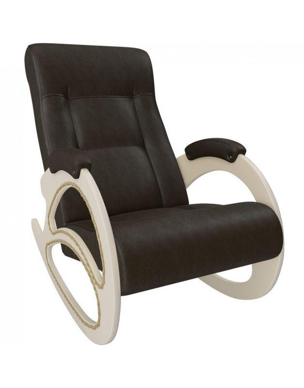 Кресло Impex Модель 4 экокожа сливочный (dundi 109) - фото 4
