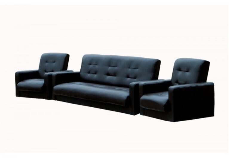 Диван Craftmebel Комплект Аккорд черный - фото 1