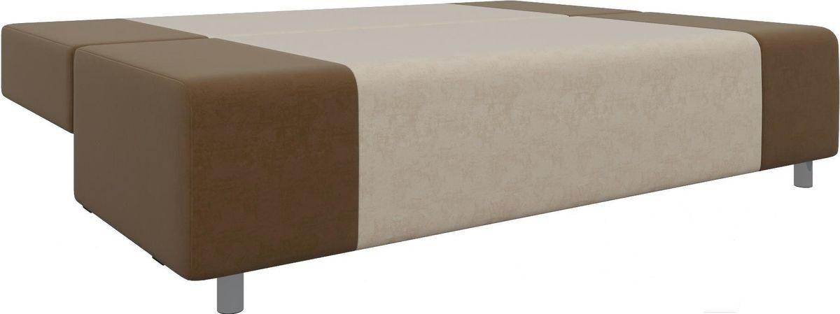 Диван Mebelico Чарли 63 микровельв. коричневый/бежевый - фото 6