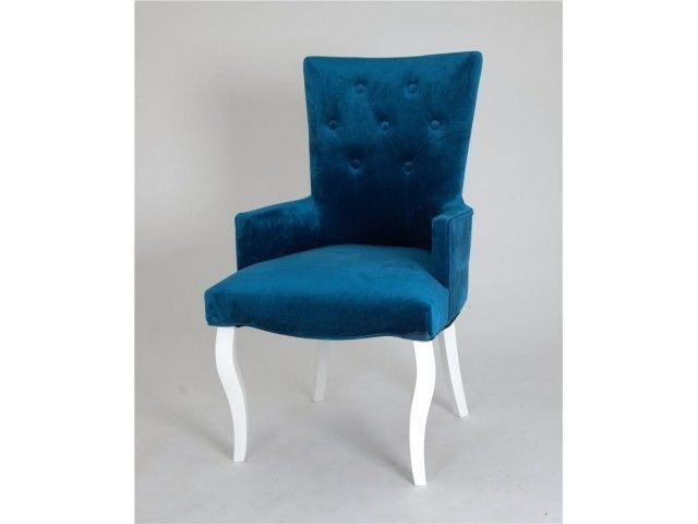 Кресло Red Black Виктория (эмаль белая/34 - королевский синий) - фото 1