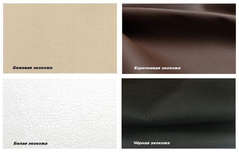 Диван Craftmebel Константин коричневая рогожка/белая экокожа - фото 2