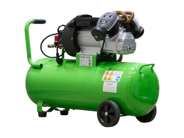 Компрессор ECO AE-705-3 (440 л/мин, 8 атм, коаксиальный, масляный, ресив. 70 л, 220 В, 2.20 кВт) (AE-705-3) - фото 2