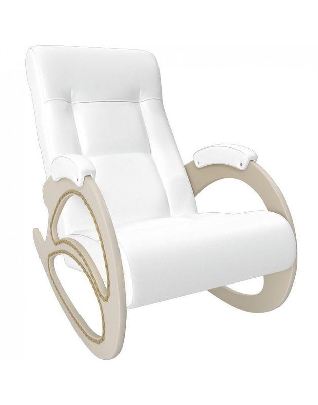 Кресло Impex Модель 4 экокожа сливочный (dundi 109) - фото 5