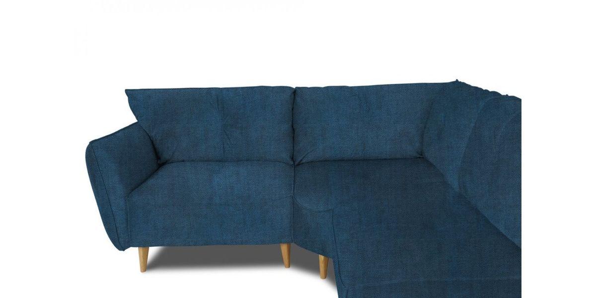 Диван WOWIN угловой Люкке Релакс лазурно-синий велюр (4- местный) - фото 3