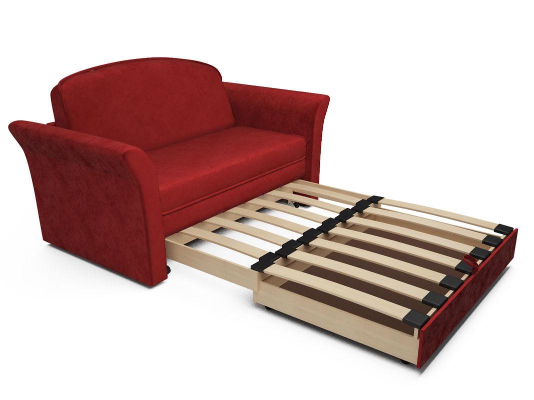 Диван Мебель-АРС Малютка №2 (бархат красный  STAR VELVET 3 DARK RED) - фото 6