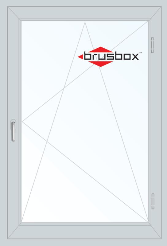 Окно ПВХ Brusbox 900*1300 1К-СП, 6К-П, П/О - фото 1