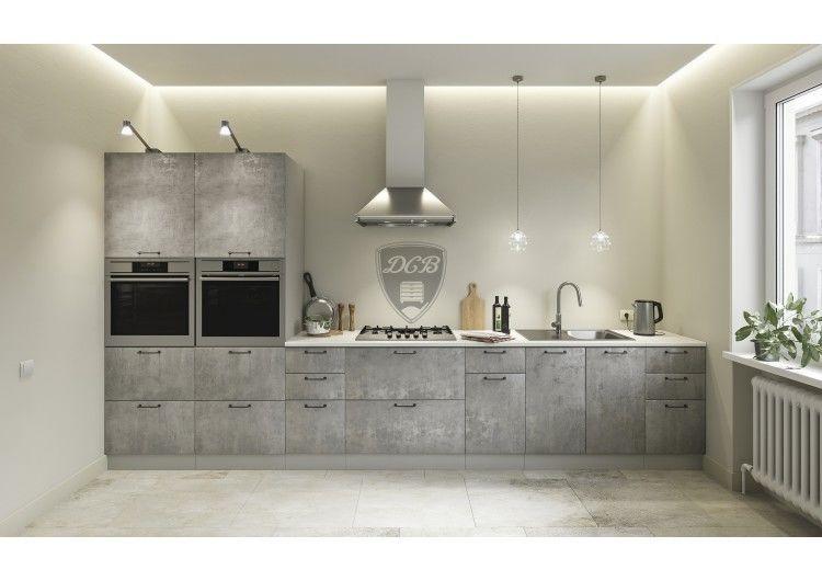 Кухня ДСВ Мебель Лофт, бетон светлый - фото 1