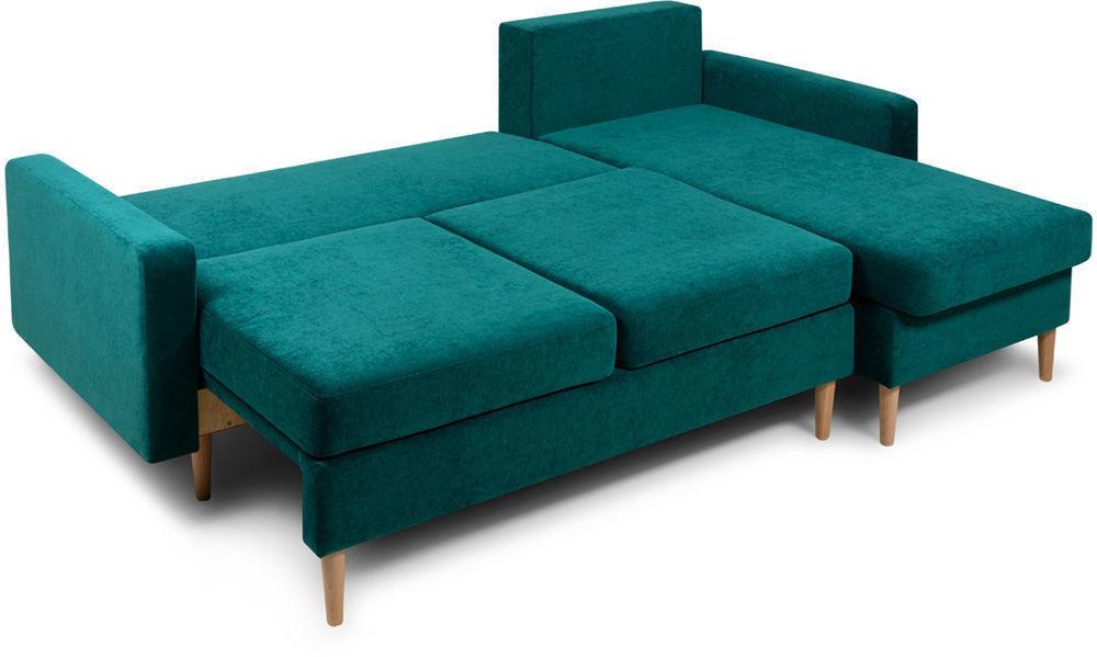 Диван Woodcraft Динс Velvet Угловой Emerald - фото 4