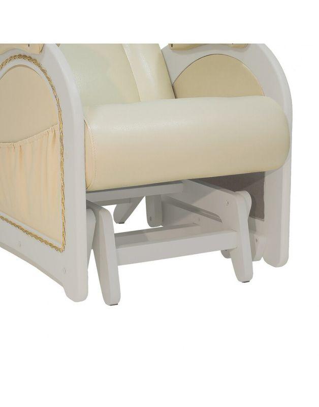 Кресло Impex Кресло-гляйдер Модель 48 экокожа сливочный (mango 002) - фото 5