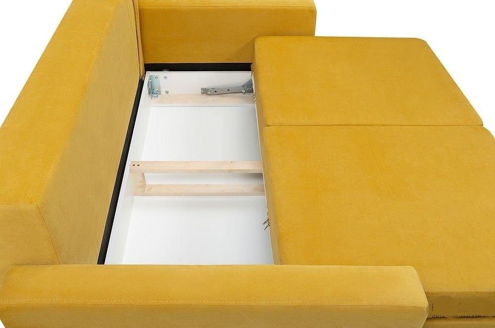Диван Woodcraft прямой Динс-2 Velvet Yellow - фото 4