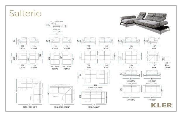 Диван KLER SALTERIO W203 (318x153x94) ткань - фото 21