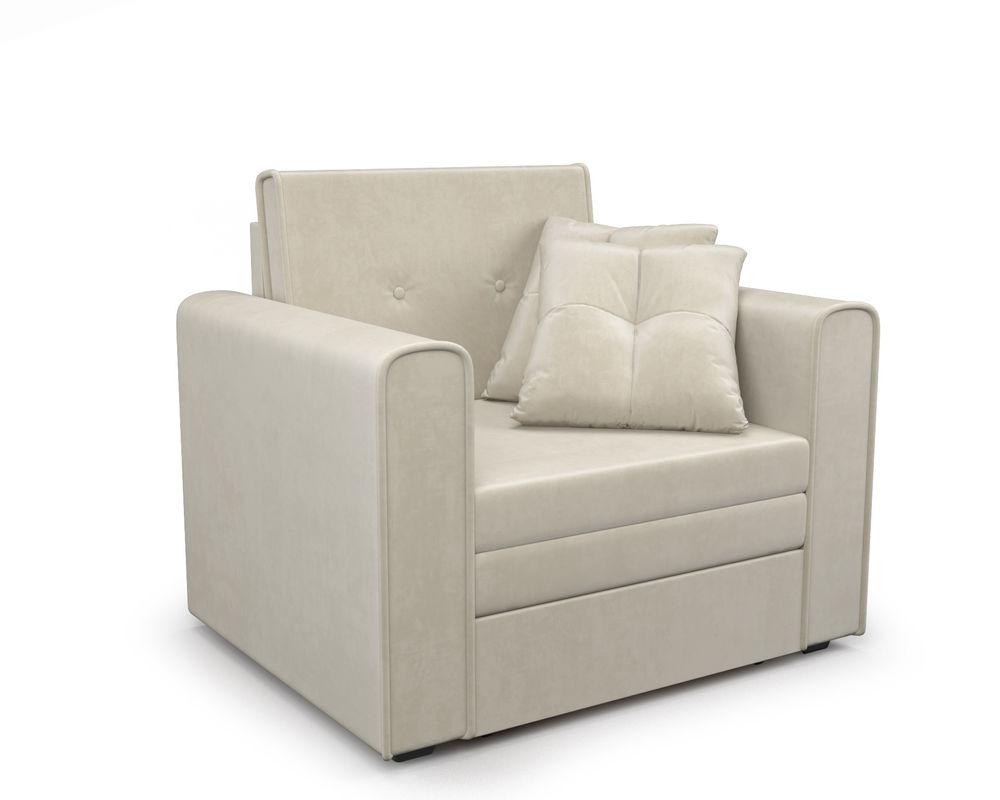 Кресло Мебель-АРС Санта (бархат бежевый) - фото 1