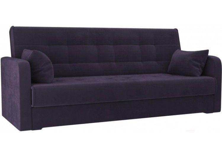 Диван Луховицкая мебельная фабрика Надежда (велюр фиолетовый) 120x180 - фото 1