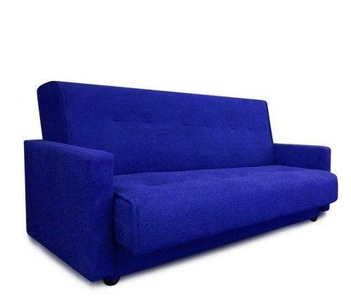 Диван Луховицкая мебельная фабрика Милан (Астра синий) пружинный 120x190 - фото 1