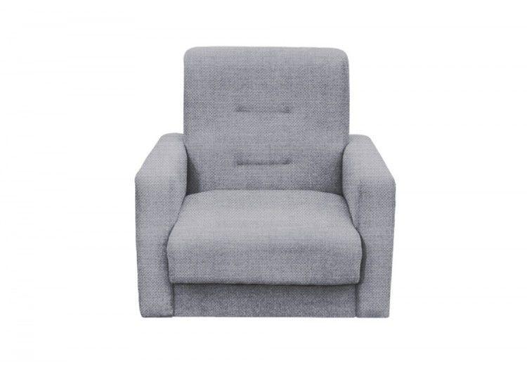 Кресло Луховицкая мебельная фабрика Лондон серая рогожка (120х190) - фото 1