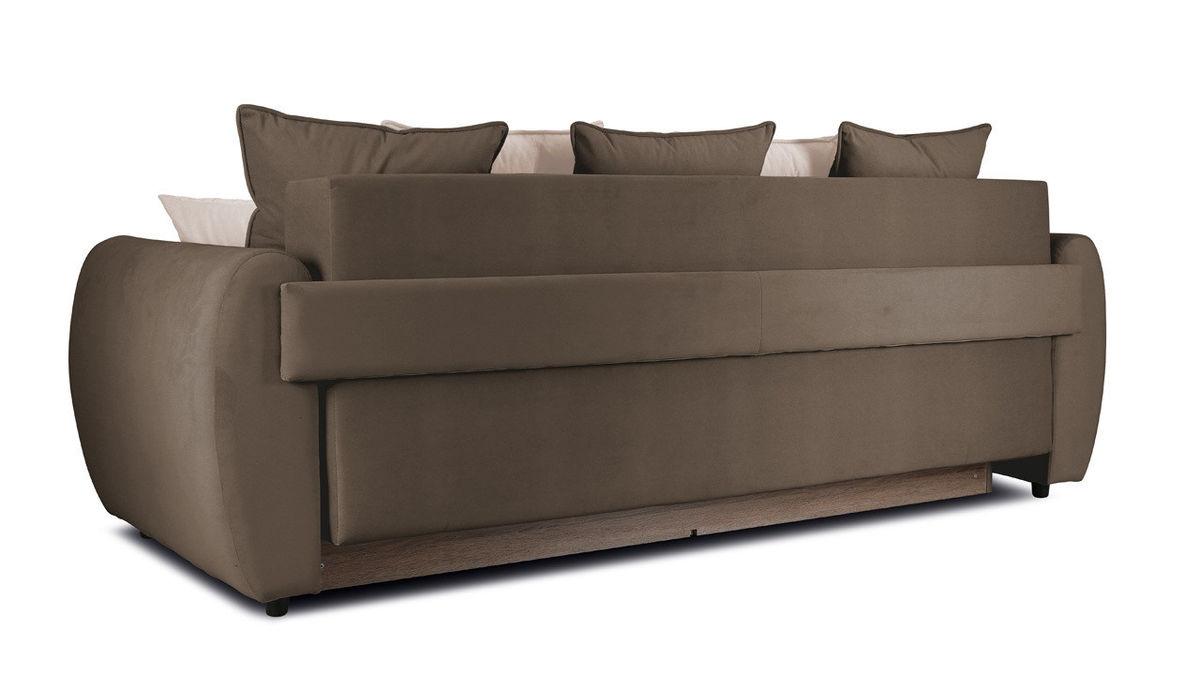 Диван ТриЯ «Бернард» (Beauty 04 (велюр), коричневый подушка Beauty 02 (велюр), капучино) - фото 3
