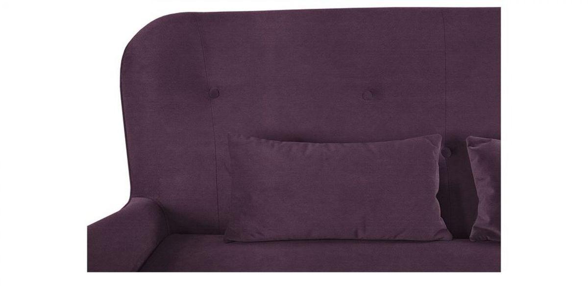 Диван WOWIN Амели Темно-фиолетовый велюр (2.5-местный) - фото 8