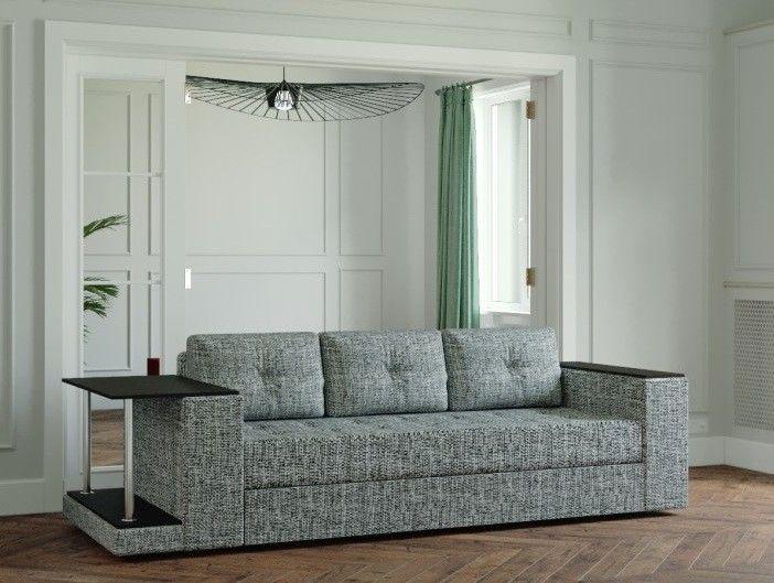 Диван Настоящая мебель Ванкувер Лайт со столом (модель 00-000034510) серый - фото 1