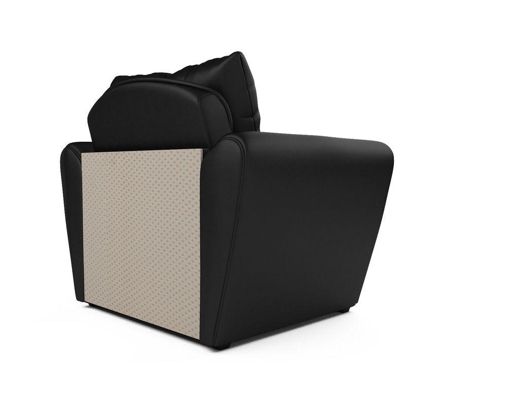Кресло Мебель-АРС Квартет - экокожа черная - фото 4