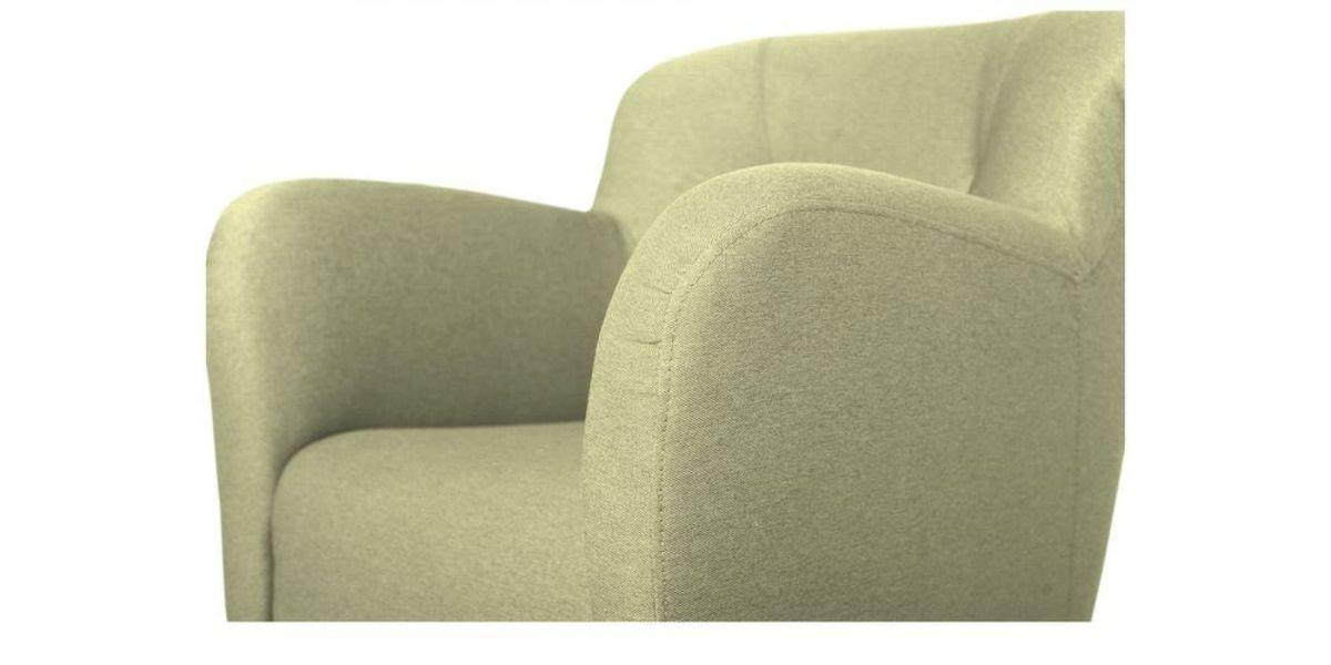 Кресло WOWIN Ингрид (Серо-бежевая микророгожка) - фото 3