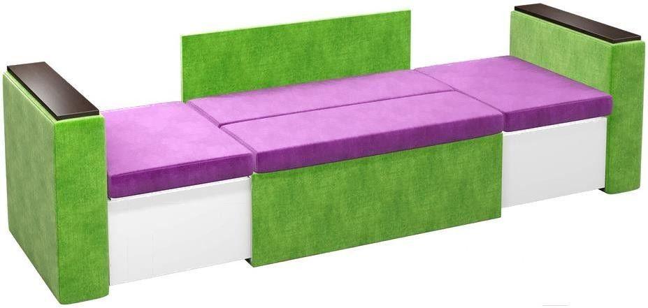 Диван Mebelico Арси 2 микровельв. фиолетовый/зеленый - фото 2