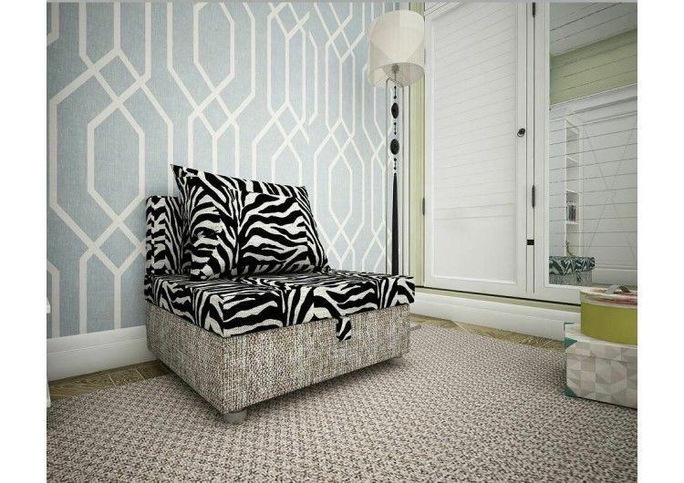 Кресло Раевская мебельная фабрика зебра+рогожка 00714 - фото 1