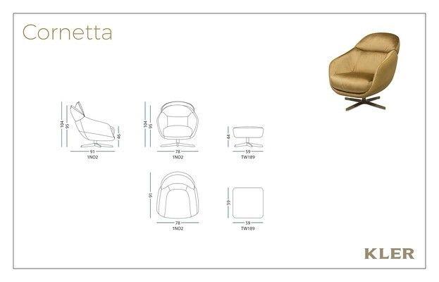Кресло KLER CORNETTA W189 (чёрный) - фото 7