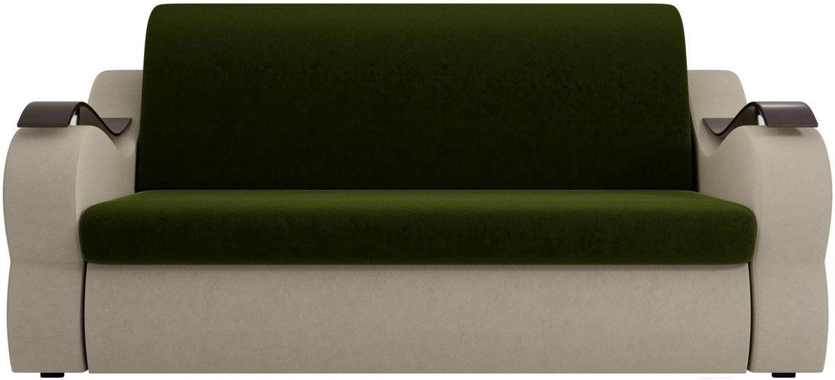 Диван Mebelico Меркурий 222 160, вельвет бежевый/зеленый - фото 3