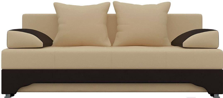 Диван Mebelico Ник-2 486 58354 экокожа бежевый/коричневый - фото 1
