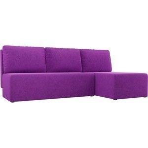 Диван АртМебель Поло угол правый микровельвет фиолетовый - фото 1