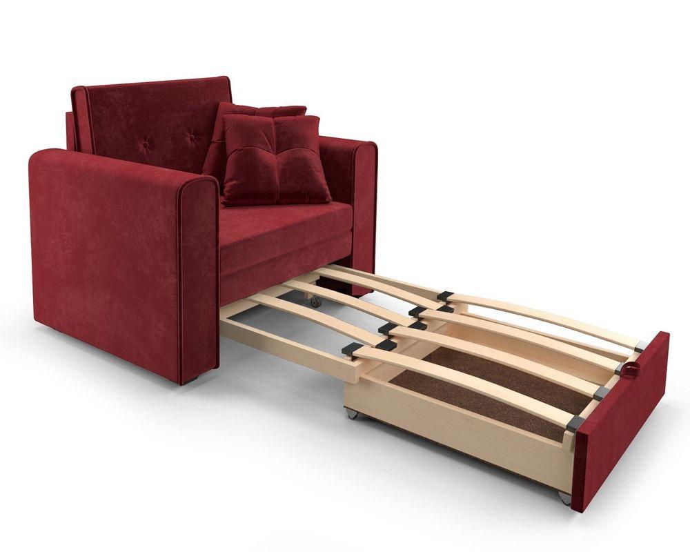Кресло Мебель-АРС Санта (бархат красный) - фото 6