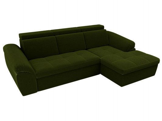 Диван ЛигаДиванов Мисандра угол правый микровельвет зеленый - фото 1