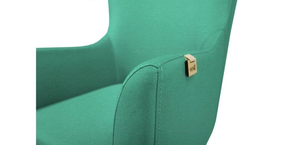 Кресло WOWIN Элеганза высокое (Бирюзово-голубая микророгожка) - фото 4