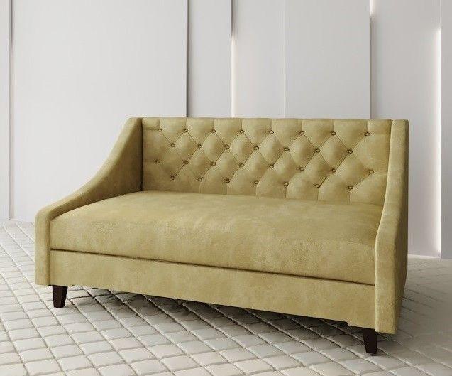 Диван Луховицкая мебельная фабрика Мальта 2 (велюр горчичный) 180x80 - фото 1