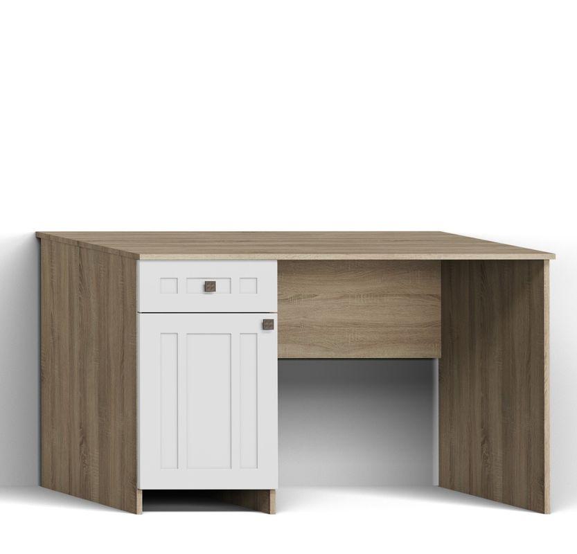 Письменный стол Калинковичский мебельный комбинат Шарм КМК 0722.15 (дуб сонома, белый глянец) - фото 1