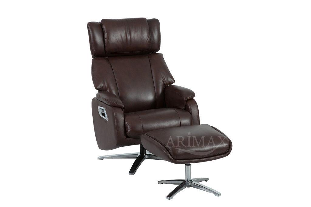 Кресло Arimax Dr Max DM02009 (Каштан) с подставкой для ног - фото 1