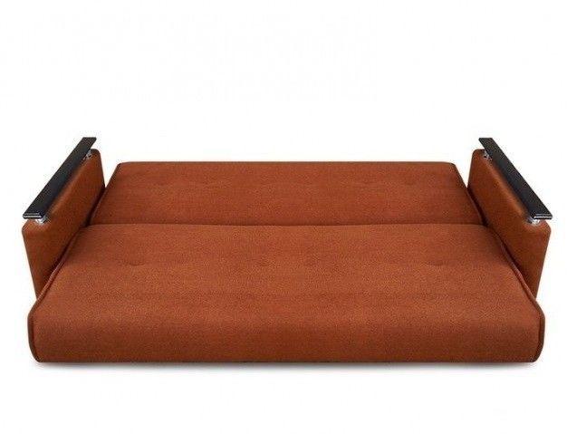 Диван Луховицкая мебельная фабрика Милан Люкс (Астра коричневый) пружинный 140x190 - фото 3