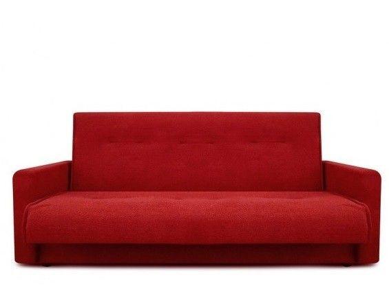 Диван Луховицкая мебельная фабрика Милан (Астра красный) пружинный 140x190 - фото 3